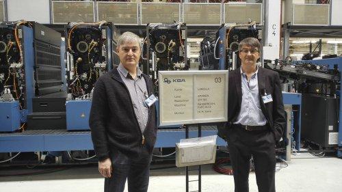 Visita procés fabricació de la nova màquina a les instal·lacions de KBA (Alemanya) - Maig 2016